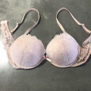 Jessica Simpson pink padded push up bra